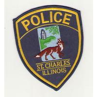 США Шитый шеврон полиция города Сент-Чарльз штат Иллинойс