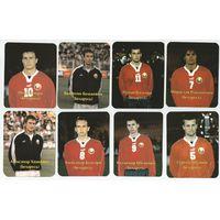 Календарики(15шт.) 2002г. Игроки Национальной сборной Беларусь.