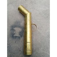 Латунная труба на самовар, размер 80, для трактирного самовара