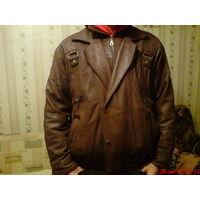 Куртка мужская кожаная  52 р.