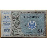 США, 1 доллар, 1948, серия 472, KL#M19