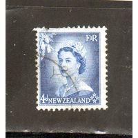 Новая Зеландия.Ми-337.Четыре пенни.Серия: Королева Елизавета II.1954.