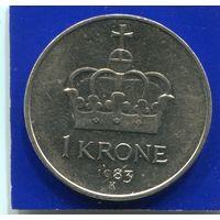 Норвегия 1 крона 1983