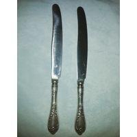 Два ножа СССР. Мельхиор. Длина 23,5 см.