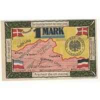 Дания оккупация Германией Нотгельд 1 марка 1920 года. Состояние aUNC!