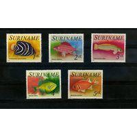Суринам 1976г, аквариумные рыбки, 5м.