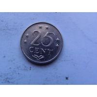 Нидерланд. Антиллы 25 центов 1978г  распродажа