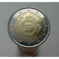 2 евро 2012 Финляндия 10 лет наличному евро aUNC