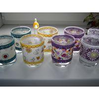 Стаканы-подсвечники, стаканы для ватных палочек, дисков и прочего