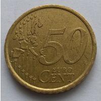 Италия, 50 евроцентов 2002 год.