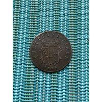 Тоскана 10 кваттрини 1858 г., очень редкая
