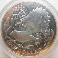 35. Новая Зеландия 1 доллар 1980 год, серебро*