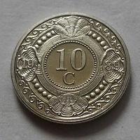 10 центов, Нидерландские Антильские острова, (Антиллы) 1989 г., UNC