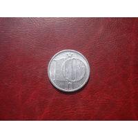 10 геллеров 1987 год Чехословакия