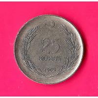 14-10 Турция, 25 куруш 1969 г.