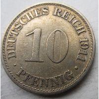 Германия. 10 пфеннигов 1911 A 73