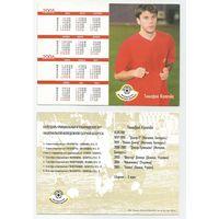 Тимофей Калачев /Сборная Беларуси/ Календарик-карточка 2005г.