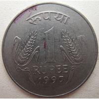 Индия 1 рупия 1997 г. (g)