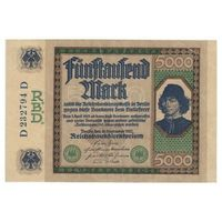 Германия 5000 марок 1922 года. Редкая!