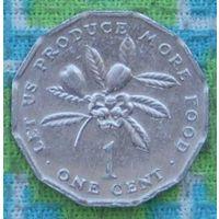 Ямайка 1 цент 1990 года. UNC. RR. Инвестируй в монеты планеты!