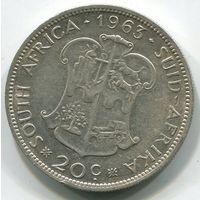 ЮЖНАЯ АФРИКА - 20 ЦЕНТОВ 1963