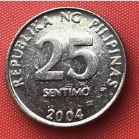 05-19 Филиппины, 25 сентимо 2004 г.