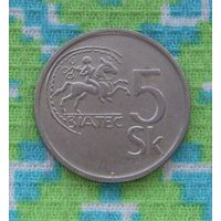 Словакия 5 крон 1993 года. Инвестируй в коллекционирование!