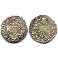 Полугрош 1560, Жигимонт Август, Вильно. Окончания легенд: Ав - L, Рв - LITV
