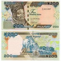 Нигерия. 200 найра (образца 2017 года, P29q, UNC)