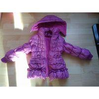 Куртка демисезонная на девочку 3-4 года