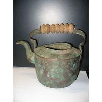Старинный медный чайник с клеймом SKULTUNA