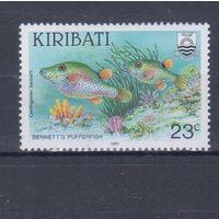 [2154] Кирибати 1991. Фауна.Рыбы. Одиночный выпуск. MNH