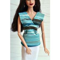 Набор одежды для кукол Барби\Barbie, 2 топа и сарафан