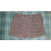 Женская юбка- шорты.42-44 размер.Фирма AZINI, Черный с оттенком коричневого цвета. Сбоку слева замок. Спереди справа и слева по 1 карману. Можно вставить ремешок
