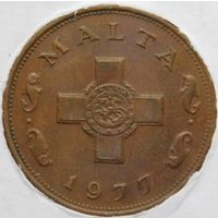 Мальта 1 цент 1977 год