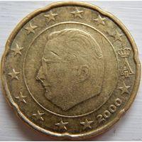 Бельгия 20 евро центов 2000 год.