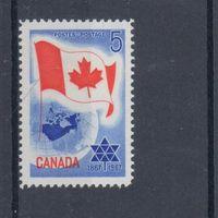 [2145] Канада 1967. Флаг,карта. MNH