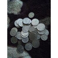 35 монет 10,15 и 20 копеек дореформы