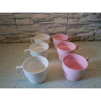 Набор пластмассовых чашек 250 мл для горячих пищевых продуктов