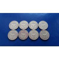 10 франков 1981-1988 года Мадагаскар (Состояние на фото,цена за одну)