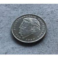 Германия 2 марки 2001 - Франц Йозеф Штраус, 40 лет Федеративной Республике (1949-1989) (F - Штутгарт) - очень нечастая!