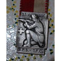 Медаль швейцарской федерации стрельбы. 1952 года.