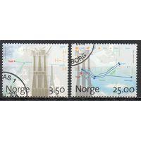 Буровые вышки Норвегия 1996 год серия из 2-х марок