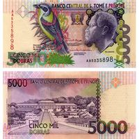 Сан-Томе и Принсипи. 5000 добра 2004. [UNC]