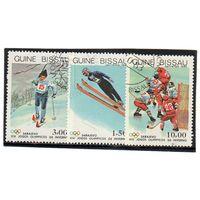 Гвинея-Биссау. Спорт. Лыжи. Трамплин. Хоккей. Олимпийские игры. Сараево. 1984.