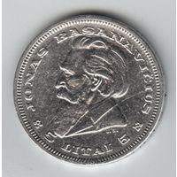 Литва 5 лит 1936 г. Басанавичюс. Серебро.