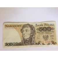 Банкнота 500 польских злотых 1982 год