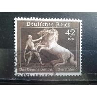 Рейх 1939 Коричневая лента, скачки в Мюнхене Михель-32,0 евро гаш