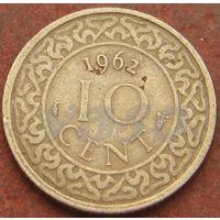 4816:  10 центов 1962 Суринам