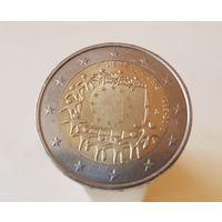 2 евро 2015 Люксембург 30 лет флагу